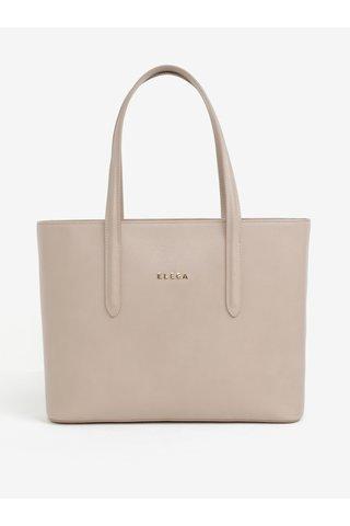 Béžová kožená kabelka přes rameno ELEGA Simone
