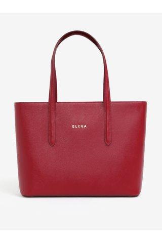 Červená kožená kabelka přes rameno ELEGA Simone