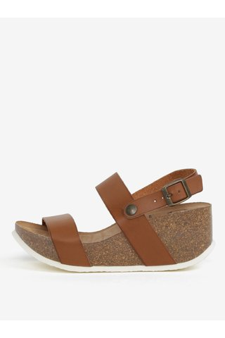 Sandale maro cu platforma - OJJU