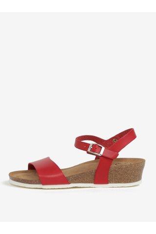 Sandale rosu cu platforma wedge - OJJU