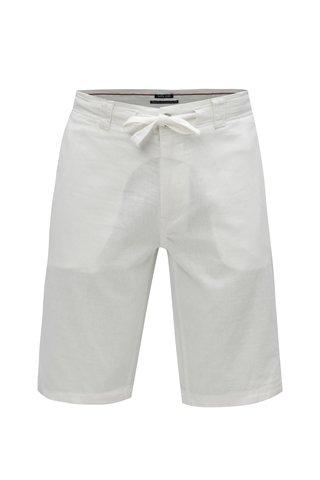 Bílé pánské lněné kraťasy Garcia Jeans