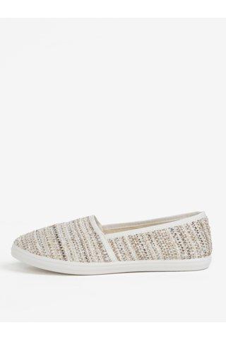 Pantofi slip-on bej cu detalii lacuite OJJU