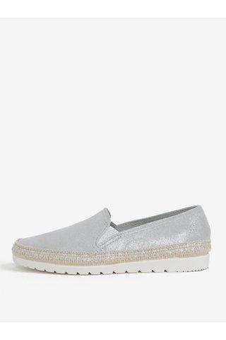 Pantofi slip-on albastru deschis din piele intoarsa cu detalii lacuite OJJU