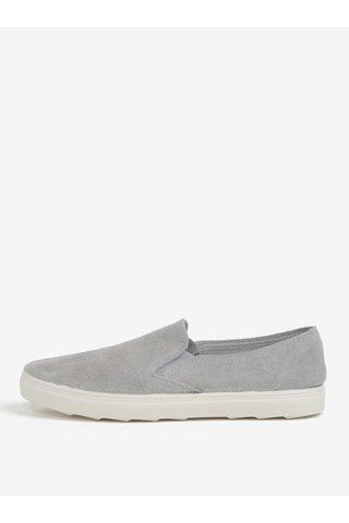 Pantofi slip-on gri din piele intoarsa OJJU