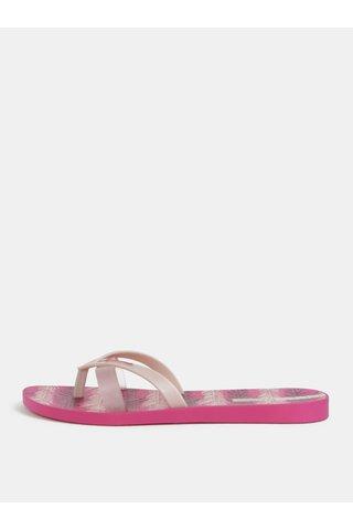Papuci flip-flop roz cu model Ipanema Kirei