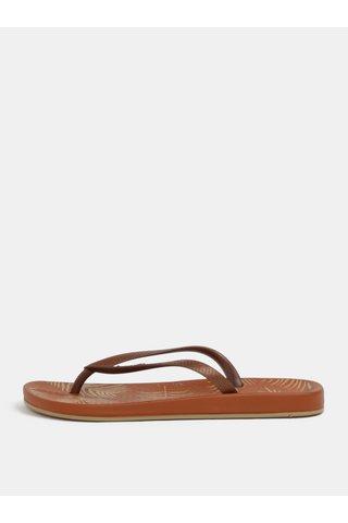 Papuci flip-flop maro cu model Ipanema Anat