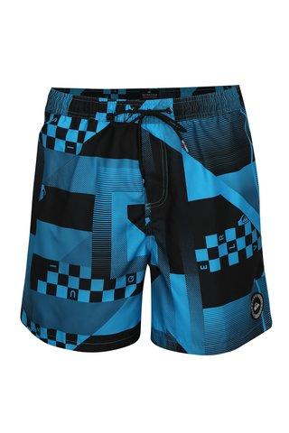 Pantaloni scurti de baie negru-albastru cu model Quiksilver