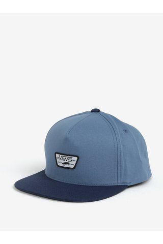 Sapca barbateasca albastra cu logo VANS Mini full