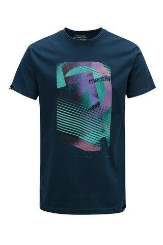 Tricou albastru inchis pentru barbati MEATFLY Domino