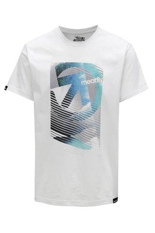 Tricou alb pentru barbati MEATFLY Domino