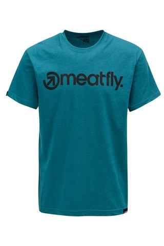Tricou petrol pentru barbati MEATFLY Logo