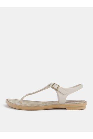Sandale crem cu model Grendha Romantic