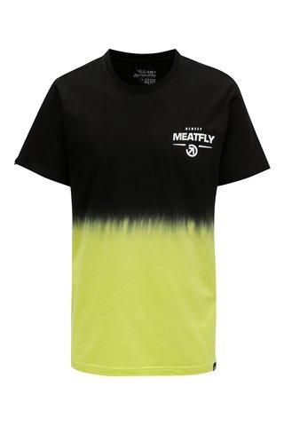 Tricou negru-galben pentru barbati MEATFLY Spill