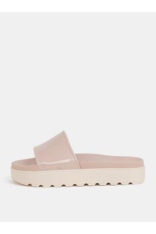 Papuci roz deschis cu platforma Zaxy Upload Plat