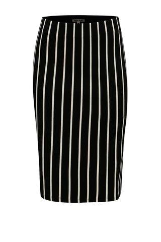 Bílo-černá pruhovaná pouzdrová sukně Garcia Jeans