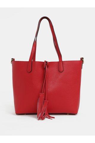 Geanta shopper rosie din piele naturala cu portofel 2in1 ZOOT
