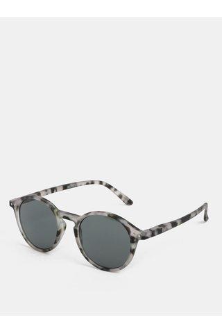 Šedé vzorované unisex sluneční brýle IZIPIZI #D