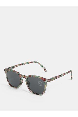 Hnědo-zelené vzorované sluneční brýle IZIPIZI #E