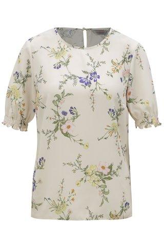 Bluza crem cu model floral Dorothy Perkins Petite