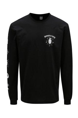 Tricou negru cu maneci lungi pentru barbati - Horsefeathers Hoppy