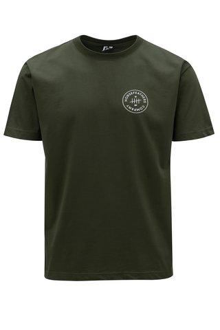 Tricou verde inchis cu print pentru barbati - Horsefeathers Five