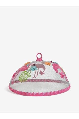 Capac roz pentru mancare cu motiv flamingo SIFCON