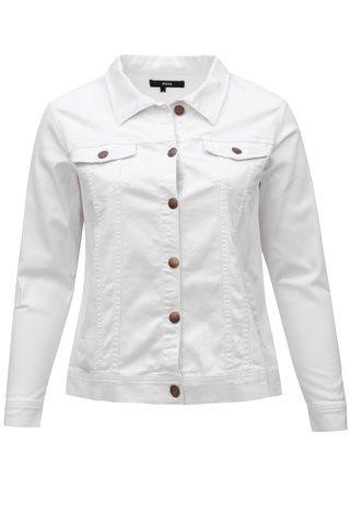 Bílá dámská džínová bunda Zizzi
