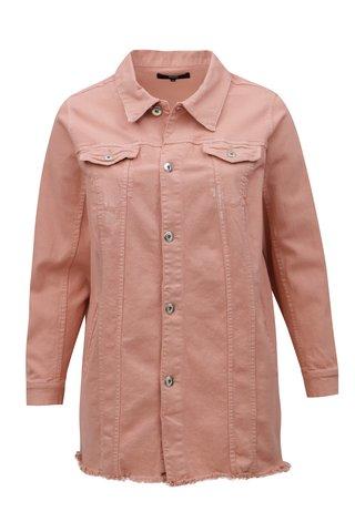Růžová dámská džínová bunda Zizzi