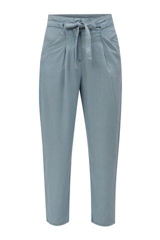 Pantaloni lejeri albastru deschis cu cordon in talie VERO MODA Breeze