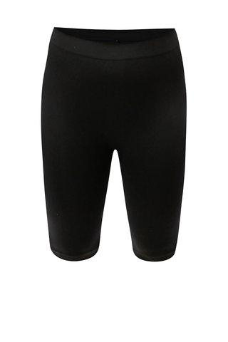 Pantaloni de dama negri elastici scurti Zizzi