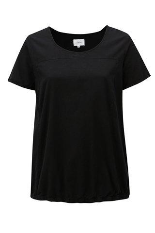 Bluza neagra cu maneci scurte Zizzi