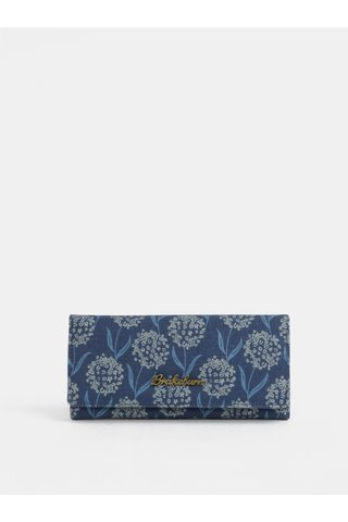Portofel albastru inchis cu model floral Brakeburn