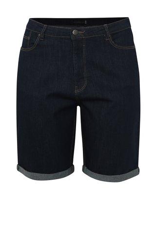 Pantaloni scurti albastru inchis din denim cu talie inalta simply be.