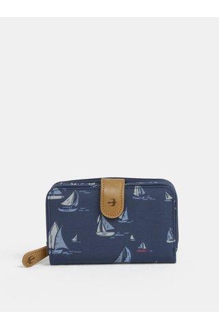 Portofel albastru inchis cu model de barci cu vele Brakeburn