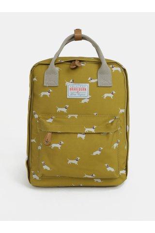 Žlutý batoh s motivem pejsků Brakeburn