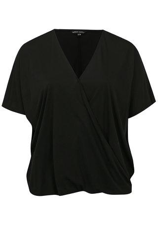 Tricou negru cu maneci scurte simply be.