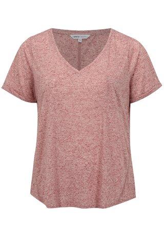 Tricou rosu melanj cu amestec de in simply be.