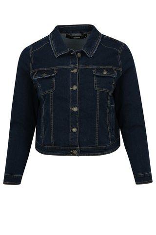 Jacheta scurta albastru inchis din denim simply be.