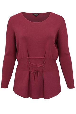 Top tricotat roz cu snur in talie simply be.