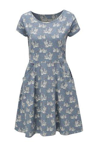 Rochie albastru deschis cu model lebede Brakeburn