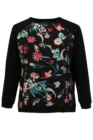 Bluza neagra sport cu model floral simply be.