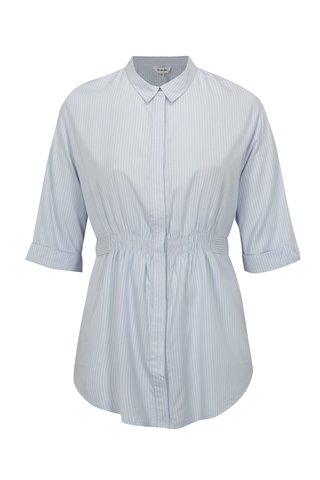 Bluza albastru deschis in dungi simply be.