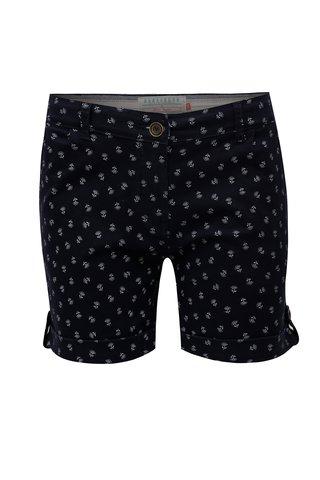 Pantaloni scurti albastru inchis cu model Brakeburn