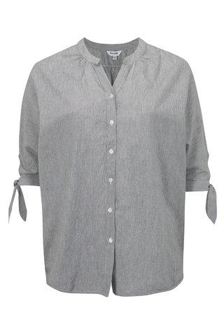 Bluza alb-negru in dungi simply be.