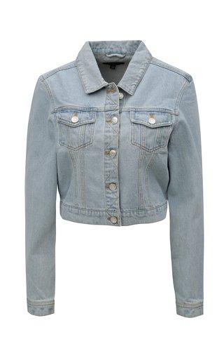Jacheta albastru deschis din denim cu siret MISSGUIDED