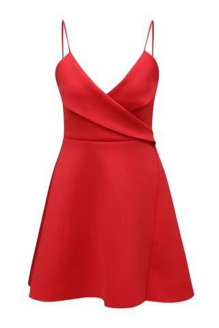 Rochie rosie cu bretele MISSGUIDED