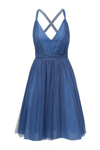 Rochie albastra din tulle cu cordon in talie MISSGUIDED