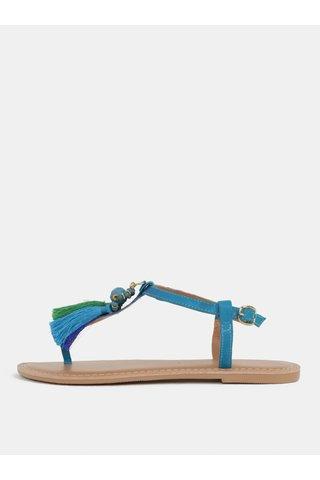 Sandale turcoaz cu ciucuri Dorothy Perkins