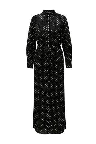 Rochie maxi tunica neagra cu buline Dorothy Perkins Petite