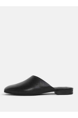 Papuci de dama negri din piele naturala Vagabond Dolores